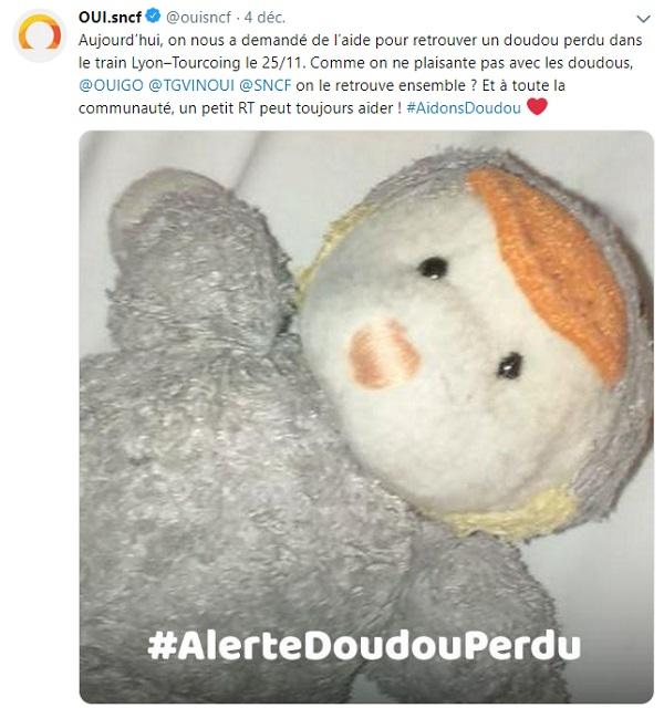 Oui SNCF sur twitter